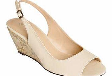 Lotus Black Peeptoe Slingbacks Shoes