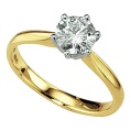 18-carat gold moissanite ring