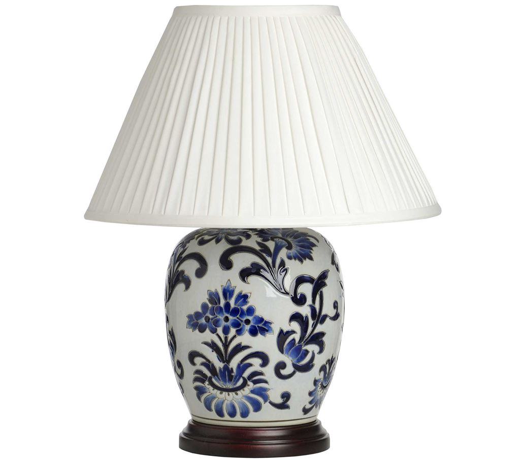 lydia blue on white pattern ceramic table lamp review compare. Black Bedroom Furniture Sets. Home Design Ideas