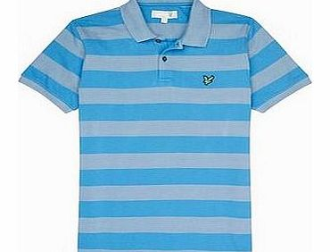 Lyle and Scott Mens Club Block Striped Polo
