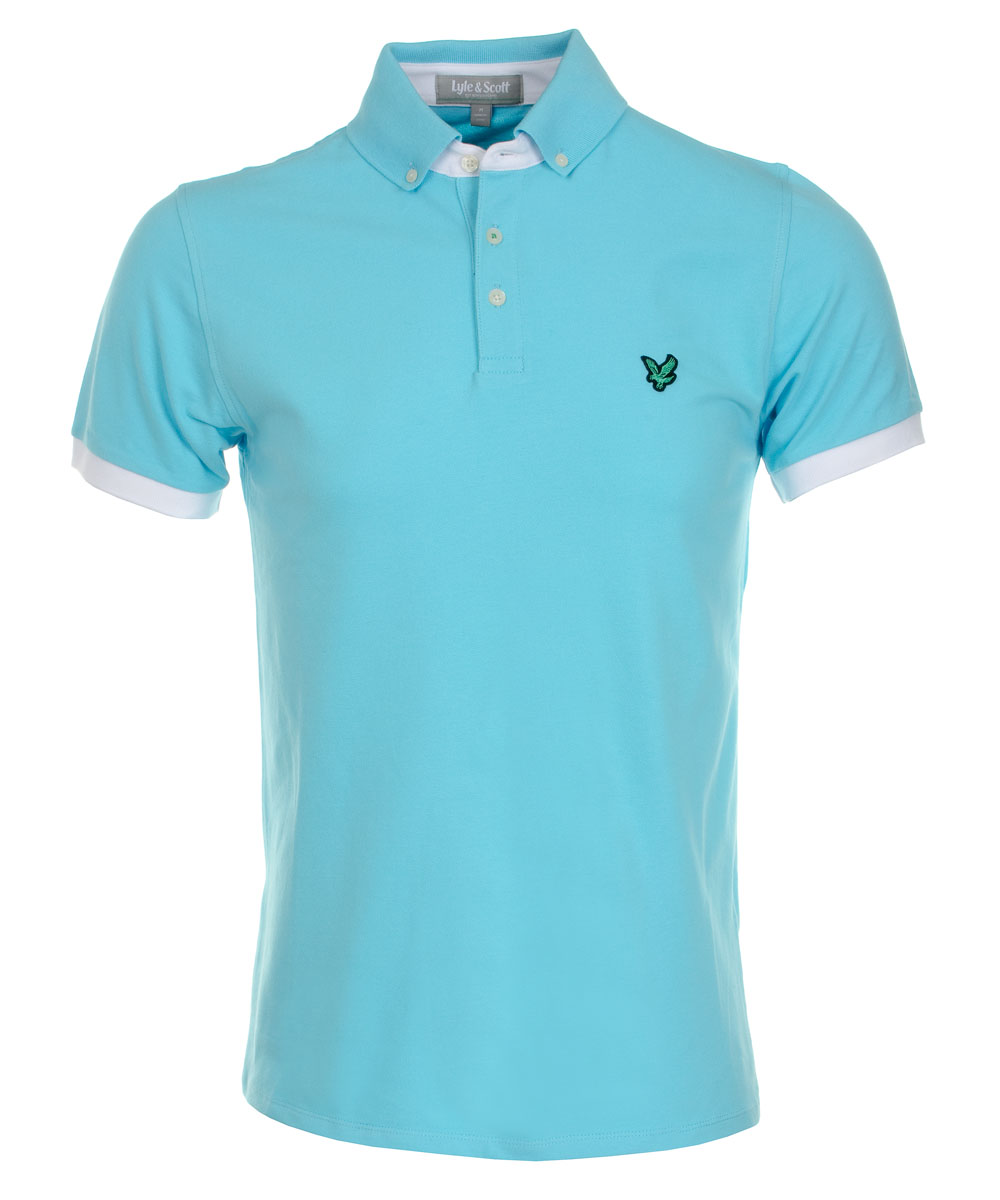 Lyle scott for Button down collar golf shirt
