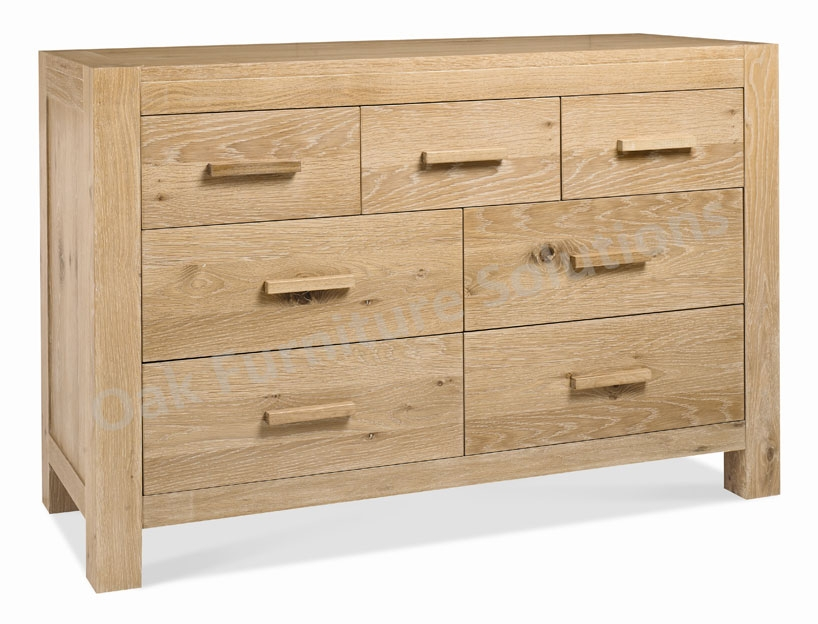 Lyon Walnut 4 3 Drawer Dresser