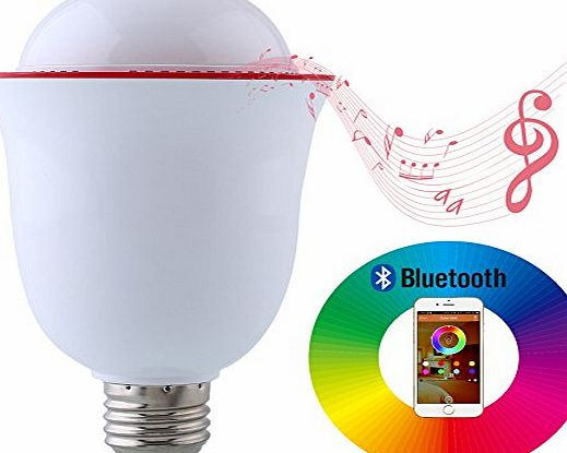 Mabor Bluetooth 4.0 LED Light, 5W E27 LED Light Music Bulb with HiFi Music Audio Stereo Speaker, Dimmable and RGB Color Changing Controlled by APP for iOS iPhone iPad Android Smartphone (Flower Shape)