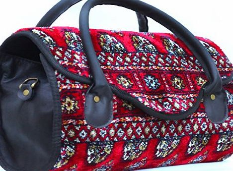 Made of Carpet� TUBFUL Bukhara - Vintage-Style handbag with leather handles and snap fastening product image