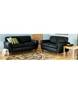 Large and Regular Sofa - Black