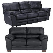 Large Leather Recliner Sofa & Regular