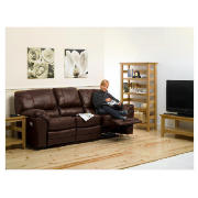large Leather Recliner Sofa, Brown