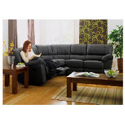 Leather Corner Unit, Black