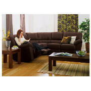 Leather Corner Unit, Brown