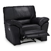 Leather Recliner Armchair, Black
