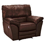 Leather Recliner Armchair, Brown