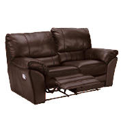 leather recliner sofa regular, brown