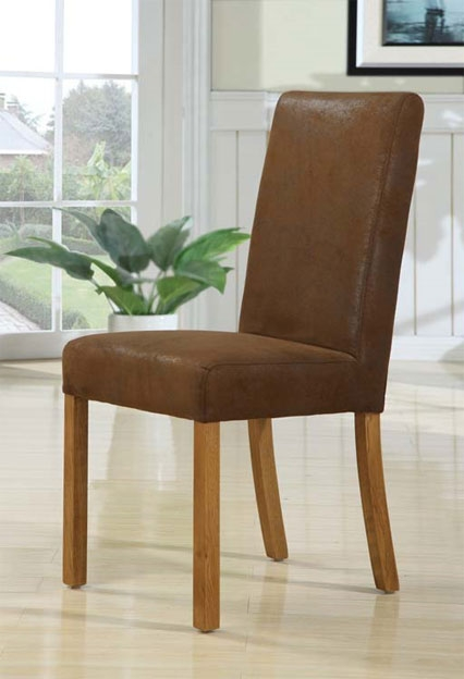 Oak Dining Chair in rubbed through