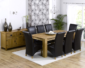 Oak Dining Table - 200cm and 8 Barcelona