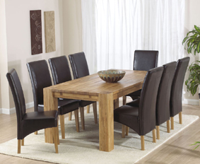 Oak Dining Table - 200cm and 8 Roma