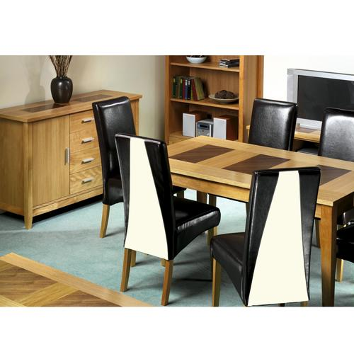 Madrid Oak Dining Set (6 Table + Sideboard)