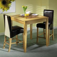 Oak Pub Table Dining Set (4 Bar Chairs)