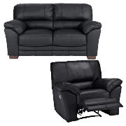 Regular Leather Fixed Seat Sofa &