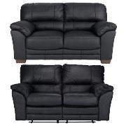Regular Leather Recliner Sofa & Regular