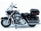 Die-cast Model Harley Davidson FLHTPI Electra Glide Police (1:18 scale in Black and White)