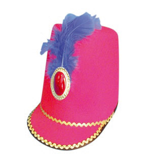March to the band with this Majorette red felt hat. Can be found in two other colours as well - CLICK FOR MORE INFORMATION