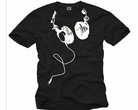 MAKAYA Music dj t-shirt for men HEADPHONES black size M product image