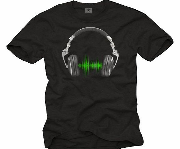 MAKAYA Music DJ T-Shirt for Men HEADPHONES black XXXL product image