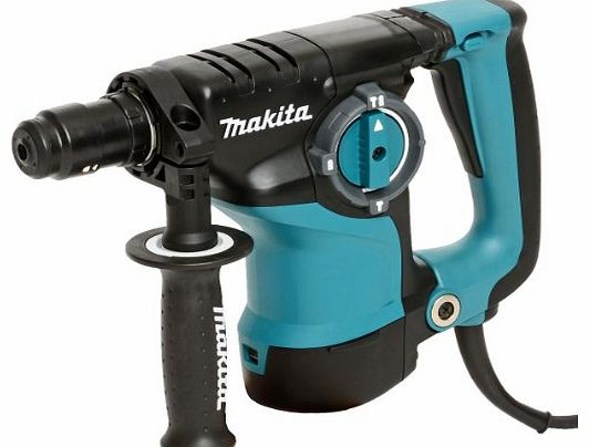 Makita 240V SDS Plus Rotary Hammer Drill with Quick Change Chuck/ 15 x SDS Plus Bits/ 40mm Chisel