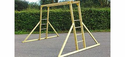 Manor Childrens Wooden Monkey Bars - Climbing Frame product image