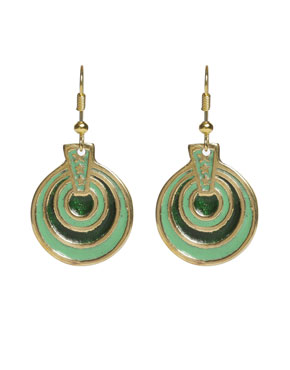 Circles Metal Drop Earrings