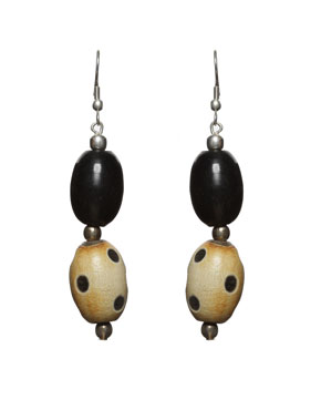 Wooden Bead Earrings