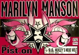 MANSON With Pist.On Music Poster