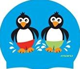 Maru, 1294[^]215614 Junior Penguin Silicone Cap - Blue