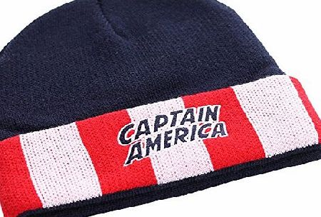Marvel Captain America Uniform and Logo Beanie