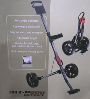 MASTERS MT-P500 COMPACT ALUMINIUM GOLF TROLLEY SILVER