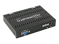 Matrox DualHead2Go is an external multi-monitor upgrade for notebooks and desktop computers. Ideal for business and professional users looking to increase their productivity with a dual monitor setup, this small box lets you run different application - CLICK FOR MORE INFORMATION