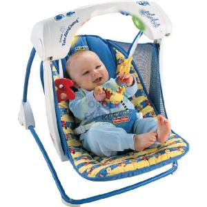 Mattel Fisher Price Baby Gear Deluxe Take Along Swing