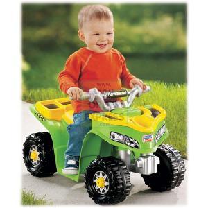 Mattel Fisher Price Power Wheels Lil Quad Kawasaki