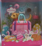 Barbies pet dog Tanner in a bag
