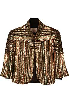 Matthew Williamson Sequined Cropped Jacket