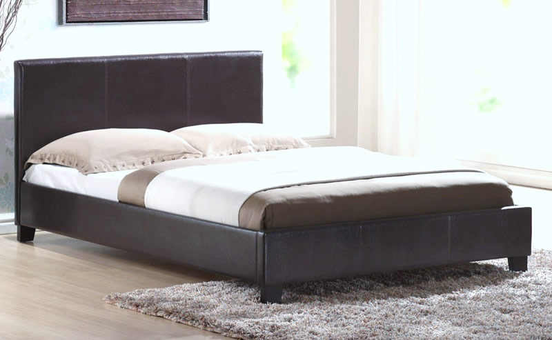 Faux Leather Bed Frame 800 x 493