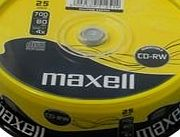 Maxell CD-RW 1-4X SPINDLE 25PK, MAXELL product image