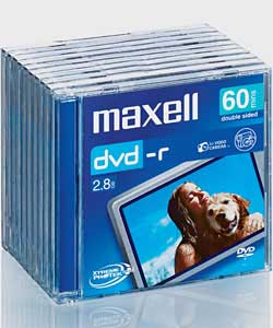 Maxell DVD-R CAM 60 Minute x 10 Pack Jewel Case product image