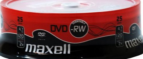 Maxell DVD-RW 25 Pack Spindle 2x Speed product image