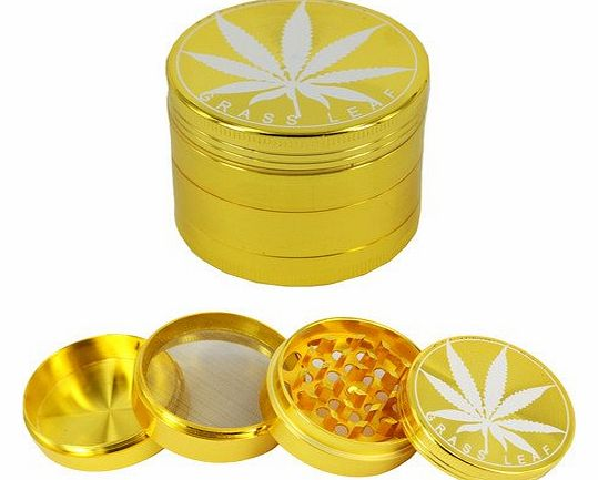 MAXTIME Gold metal 50mm 4part Magnetised Anodized Aluminium Pollinator Metal Herb Spice Grinder product image