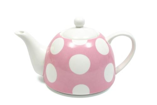 Maxwell and Williams Polka Dot Tea Pot 800ml Pink