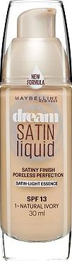 Maybelline, 2041[^]10084113001 Dream Satin Liquid Foundation Ivory