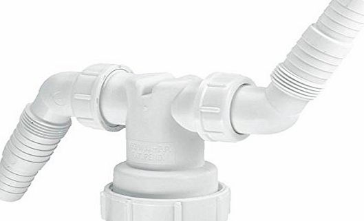 Mcalpine Twin Adaptor - Connect 2 of your appliances to one waste pipe