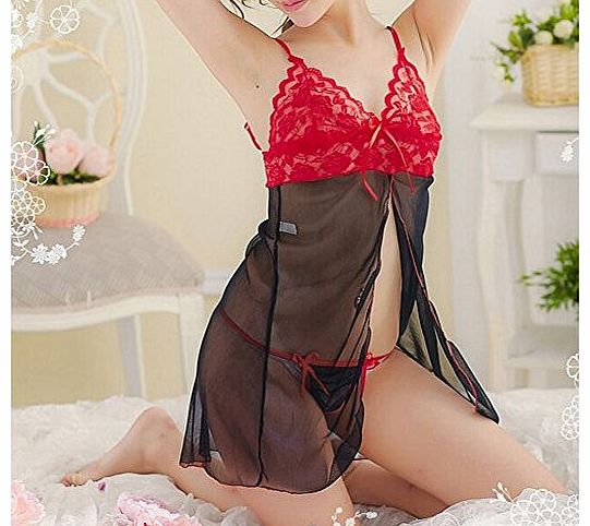 Mcitymall77 New Hot Sexy Lingerie Lace Babydoll Dress Womens Underwear Sleepwear Chemise +G-String for Women product image