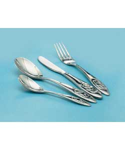 4 Piece Cutlery Set with Embossed Tatty Teddy